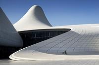Heydar Aliyev cultural center futuristic monument designed by the architect Zaha Hadid. Azerbaijan, Baku.