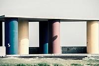 Decorative architectural element Malvarrosa beach of Valencia. Comunidad Valenciana. Spain.