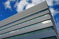 New George Brown College Health Sciences Campus building at Sugar Beach Toronto Harbourfront.
