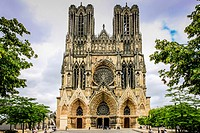 The Cathedral of Reims in the Champagne-Ardenne region of France,.