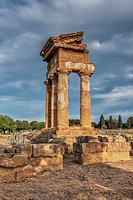 The Temple of Castor and Pollux, Tempio di Castore e Polluce, was built in the 5th century BC. The temple belongs to the archaeological sites of Agrig...