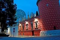 Torre Galatea at sunset, Teatre Museu Dali, Figueres, Catalonia, Spain