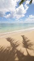 Kaaawa Beach Park, Oahu, Hawaii, shadow.