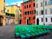 Before a gathering at the Piazza Pomposa, Modena, Emilia-Romagna
