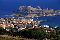 Ile-Rousse, coastal town of Balagne region, Haute-Corse department, Northern Corsica, France, Europe.