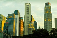 Skyscrapers. Singapore, Asia.