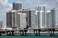 Large buildings in downtown Miami, Florida, USA