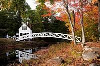 Somesville Bridge - Village Somesvillle, Mount Desert Island, Maine, USA.