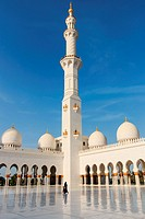Sheikh Zayed mosque in Abu-Dhabi.