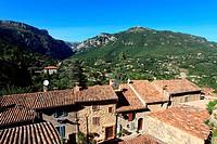 The village of Bar sur Loup, Préalpes d´Azur regional park, Alpes-Maritimes, Provence-Alpes-Côte d´Azur, France.