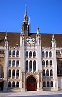 The City of London Guildhall on a sunny day in England.