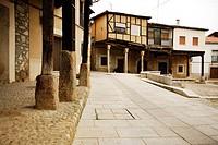 Square in high area of Cuacos de Yuste, Caceres, Spain.