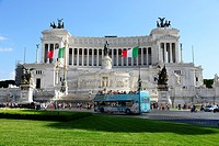 Victor Emmanual Monument Rome Italy IT EU Europe.