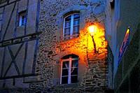 House in Rue du Temple where Saint Flore was born, Maurs, Cantal, Auvergne, France