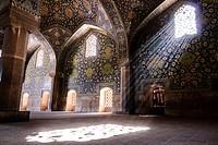 Sunrays entering the windows of Imam´s mosque, Isfahan, Iran.