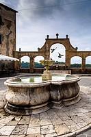Fountain in the main square of Pitigliano - Grosseto, Italy.