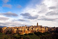 The medieval town of Pitigliano in Tuscany - Grosseto, Italy.