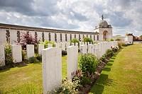 Tyne Cot WW1 Commonwealth military cemetery Passchendaele, Flanders, Belgium, Europe.