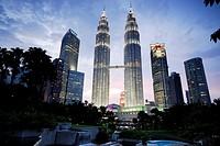 Petronas Twin towers of Kuala Lumpur, Malaysia.