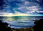 Stormy Seascape, Playa Carabeo, Nerja,.