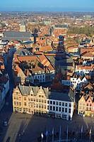 Brugge Panorama From Belfort Tower, Belgium.