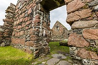 The abandoned ruins of the old nunnery on Iona Island, inner Hebrides, Scotland.