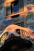 Casa Batlló by Antonio Gaudí, 1904-1906, passeig de Gracia, Barcelona, Catalonia, Spain.The local name for the building is Casa dels ossos (House of B...