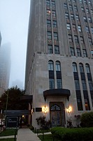 The Powhatan, or Powhatan Apartments, a 22-story, luxury, Art Deco apartment building overlooking Lake Michigan and adjacent to Burnham Park in the Ke...