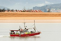 Fishing Boat, Santoña, Cantabria, Spain, Europe.