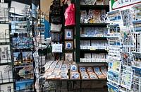 Curio Shops in Castelo de São Jorge Neighbourhood in Lisbon - Portugal.
