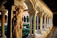France, Bouches du Rhone, Aix en Provence, Cathedral St-Saveur, Cloister. .