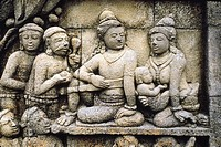 East view of the exposed hidden foot. Borobudur, Indonesia. Dated: 778-842 A. D.