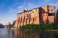 Italy, Lombardy, Cassano d´Adda, Borromeo Castle.