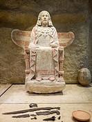 Dama de Baza (Lady of Baza), found in Granada. Museo Arqueológico Nacional (National Archaeological Museum), Madrid, Spain