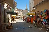 Streetview at Les Vans, a village in France, Ardèche, Rhône-Alpes.