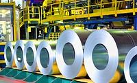 rolls of zinc steel sheet.