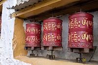 Prayer wheels. Nepal
