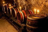wine cellar in Velka Trna, Tokaj wine region, Slovakia.