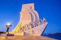 Padrao dos Descobrimentos or Monument to the Discoveries in Belem quarter, Lisboa, Portugal.