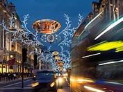 UK, england, london, Christmas lights Regent St.