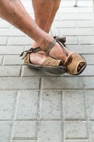 Espadrilles. Typical valencian footwear. Valencia. Spain.