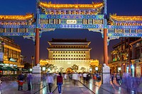 China, Beijin City, Qianmen District, Zhengyang Gate , Arrow tower.