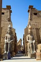 Colossi of Ramses II, Luxor Temple, Luxor, Egypt