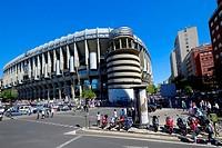 Santiago Bernabeu Soccer Stadium Madrid Spain ES.