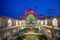 Iran, Kashan City, Masjed-e Agha Borzog Mosque.