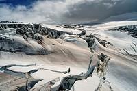 Krossarjokull Glacier, Myrdalsjokull Ice cap, Iceland.