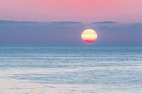 The majestic sunrise on the sicilian sea.