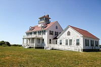 Old Coast Guard Station, now an education center, Coast Guard Beach, Eastham, Massachusetts, United States, North America.
