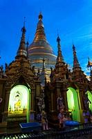 Shwedagon Pagoda. Yangon. Myanmar.