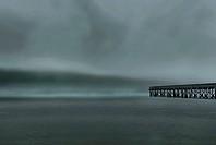 Landscape, waterscape, pier